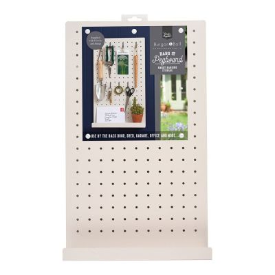 Pegboard for Shed or Garage in Stone Cream