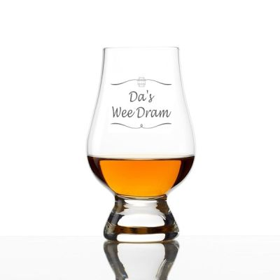 Da's Dad's Wee Dram Engraved  Whisky Glass