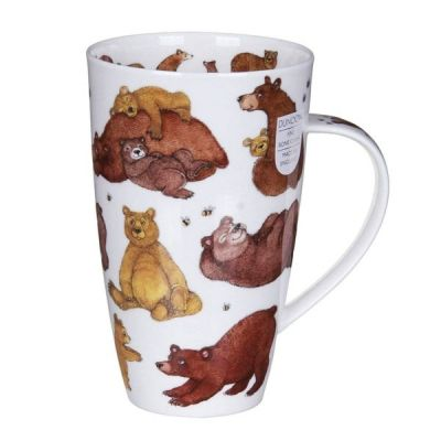 Grizzlies Grizzly Bear Henley Mug Cup Fine China 600ml