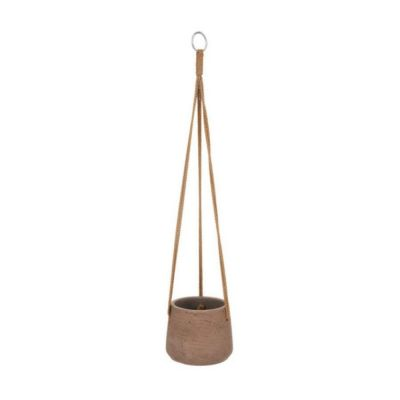 Hanging Planter in Warm Stone