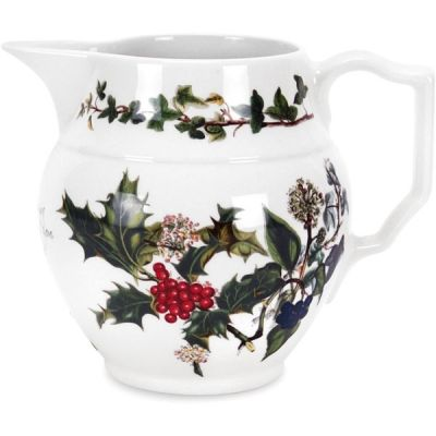 Holly and Ivy Staffordshire Small Christmas Festive Jug