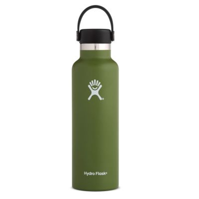 21oz Water Bottle Thermos Flask with Cap Lid in Olive