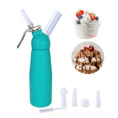 whipped cream dispenser with 10 canisters