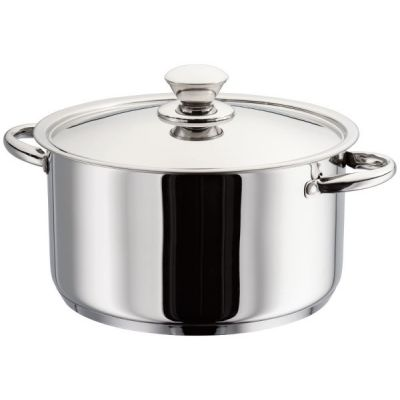 24cm Casserole Pan Mirror Polished Stainless Steel Platina Range