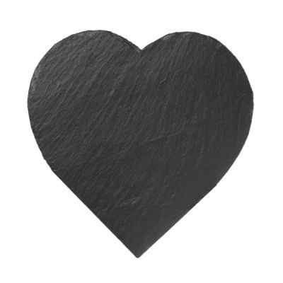 Just Slate Natural Slate Heart Shaped Cheese Board