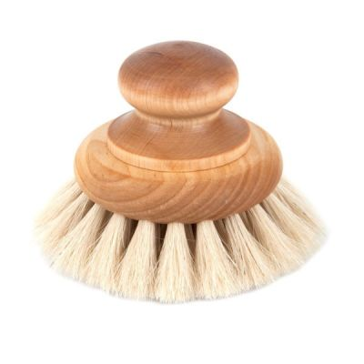 Birch Wood & Horse Hair Bath Brush with Knob Handle