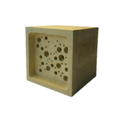 Large Bee Block in Yellow by Green & Blue