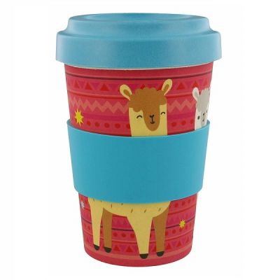 Llama Eco-Friendly Reusable Screw Top Bamboo Travel Cup 400ml from Bambootique