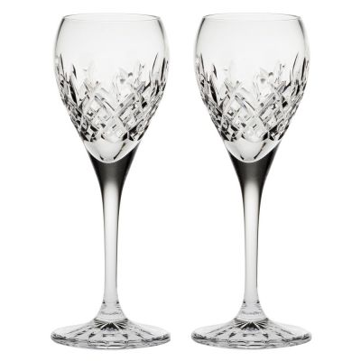London Set of 2 Crystal Port Sherry Glasses