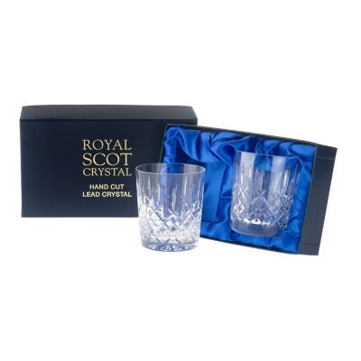 London Set of 2 Crystal 11oz Whisky Tumblers