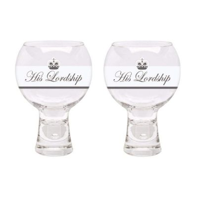 Set of 2 540ml Bubble His Lordship's Gin Copa Cocktail Glass Glasses