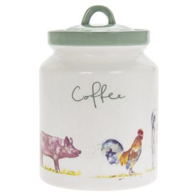 Jennifer Rose Collection Country Life Farmyard Coffee Storage Canister