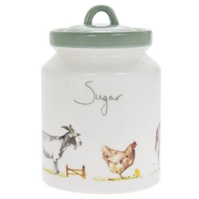 Jennifer Rose Collection Country Life Farmyard Sugar Storage Canister