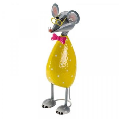 Outdoor Metal Mega Mouse Garden Ornament