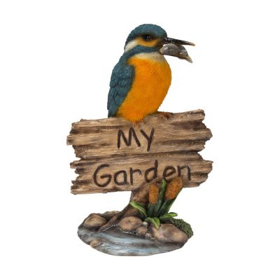 "Kingfisher ""My Garden"" Ornament Sign"
