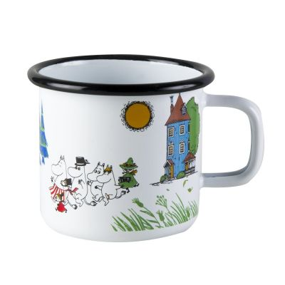 Moomin Valley Enamel Cup in White 37cl 12.5fl oz