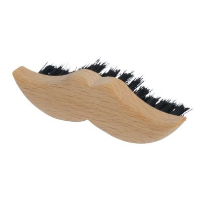Beechwood Moustache Shaped Beard Brush