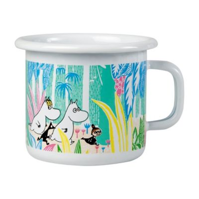 Moomin In The Jungle Enamel Cup in White 25cl 8.45fl oz