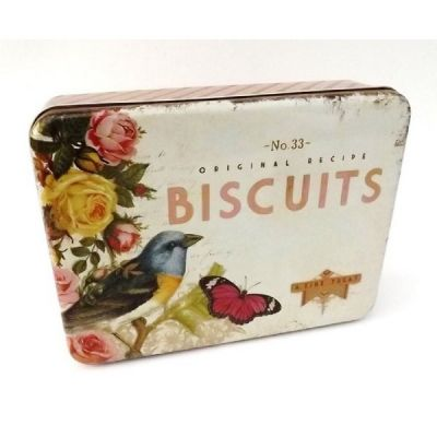 Biscuit Storage Tin in Vintage Style Design by Nostalgia