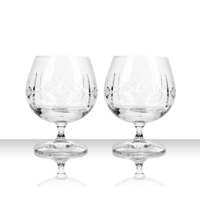 Crystal Brandy Cognac Goblet Pair, Set of 2 from Burns Handcrafted Crystal