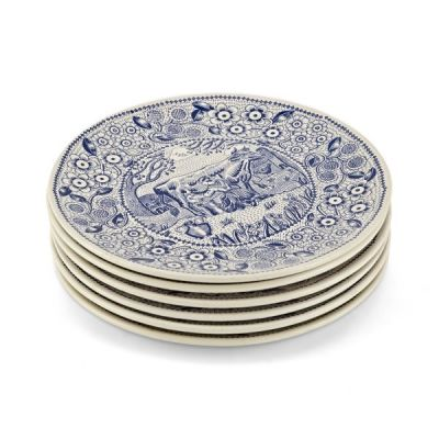 Set of 6 Decorative Cheese Plates