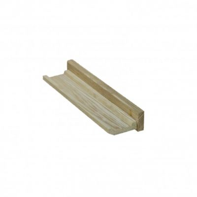 Small Solid Oak Floating Picture Ledge Shelf