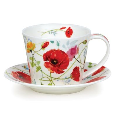 Islay Wild Garden Poppy Cup and Saucer