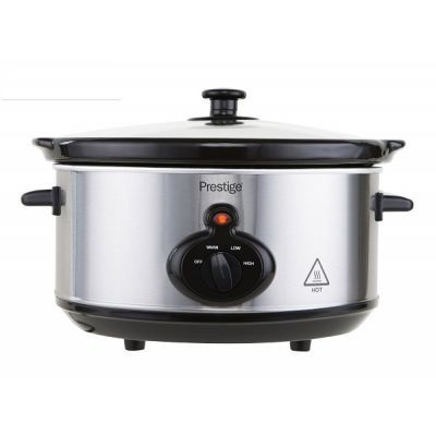 Mechanical 200W 3.5L Slow Cooker Silver Stainless Steel