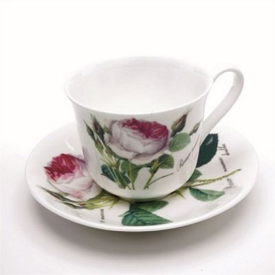 Redoute Rose Cup & Saucer