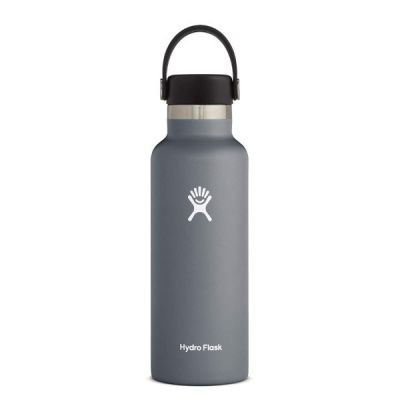 18oz Water Bottle Thermos Flask with Standard Mouth Flex Cap Lid in Stone
