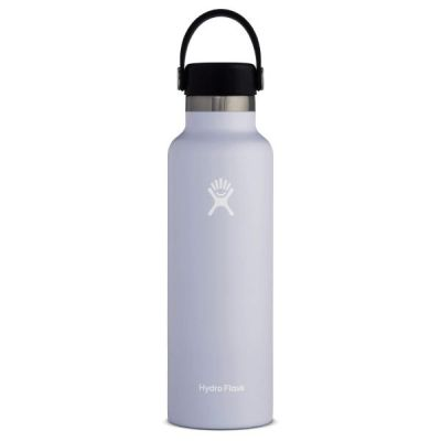 18oz Water Bottle Thermos Flask with Standard Mouth Flex Cap Lid in Fog