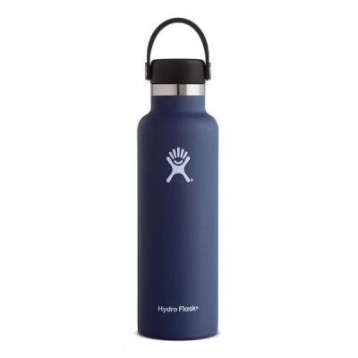 21oz Water Bottle Thermos Flask with Cap Lid in Colbalt Blue