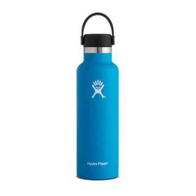 21oz Water Bottle Thermos Flask with Cap Lid in Pacific Blue