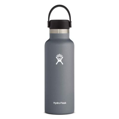 21oz Water Bottle Thermos Flask with Wide Mouth Flex Cap Lid in Stone