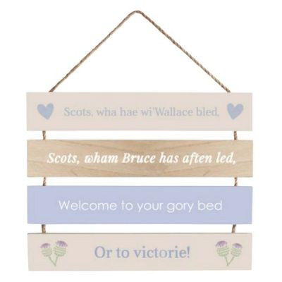 Proud to be Scottish 'Wallace' Slatted Hanging Sign