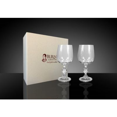 Handcrafted Crystal Classic Sherry, Brandy and Wine Glasses Set of 2