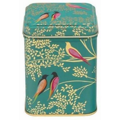 Square Birds Storage Tin