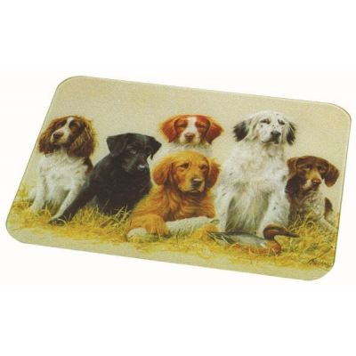 Dogs Large Toughened Glass Worktop Surface Protector