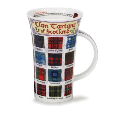 Educational Tartans of Scotland Mug Cup 500ml 16.9 fl oz  Glencoe Fine China