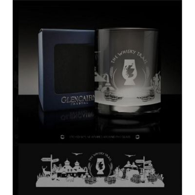 The Whisky Trail Skyline Whisky Spirit Crystal Glass Tumbler