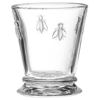 Glass Tumbler with Bee Design