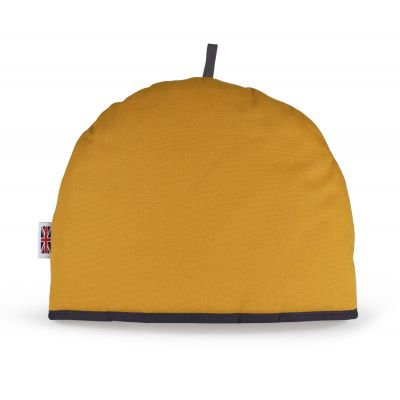 mustard yellow tea cosy by Muldale