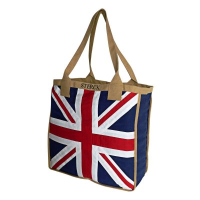 Sterck Union Jack British Appliqued Fabric Big Shoulder Bag