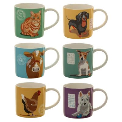 Wiscombe Set of 6 Porcelain Straight Sided Mugs