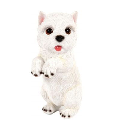 Outdoor Garden Patio Resin West Highland Terrier Pup Statue Figurine