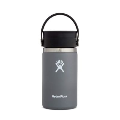 12oz Travel Coffee Flask Cup with Wide Mouth Flex Sip Lid in Stone