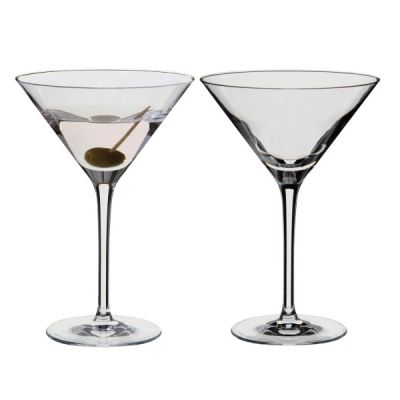 Wine & Bar Set 2 Martini Cocktail Glasses, 240ml