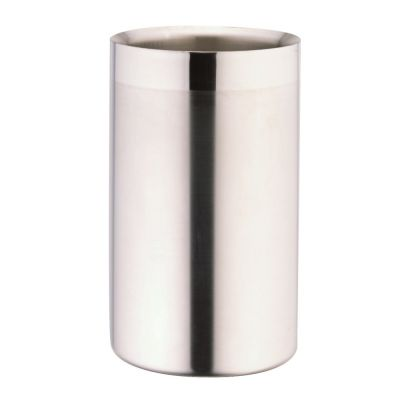 Wine or Champagne Cooler in Double Wall Stainless Steel
