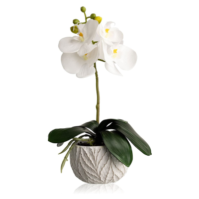 Artificial Orchid Phalaenopsis 32cm in White