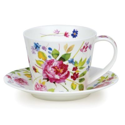 Islay Wild Garden Rose Cup and Saucer